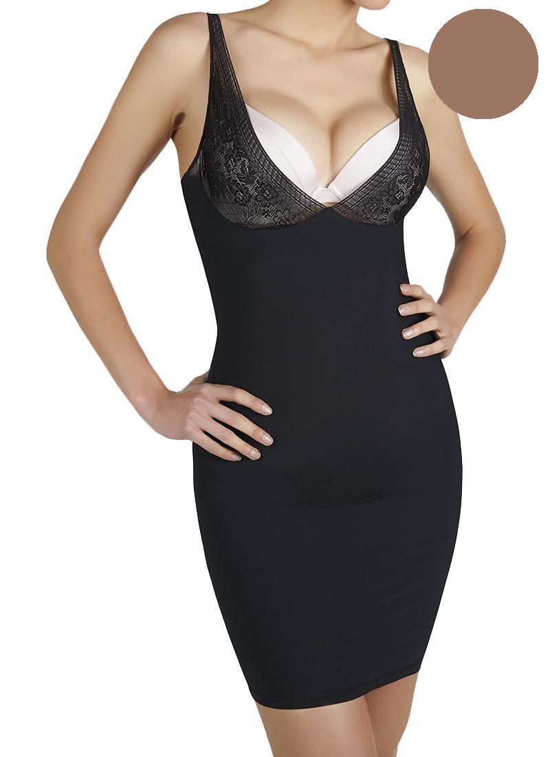 Ysabel Mora Shaping Dress-Up Κομπινεζόν Λαστέξ Vison – Tartora.gr 169cc96efcf